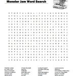 Monster Jam Word Search