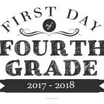 First Day of Fourth Grade Sign