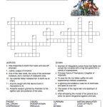 Justice League Crossword