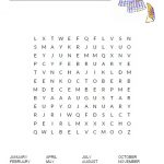 Months of the Year Word Search